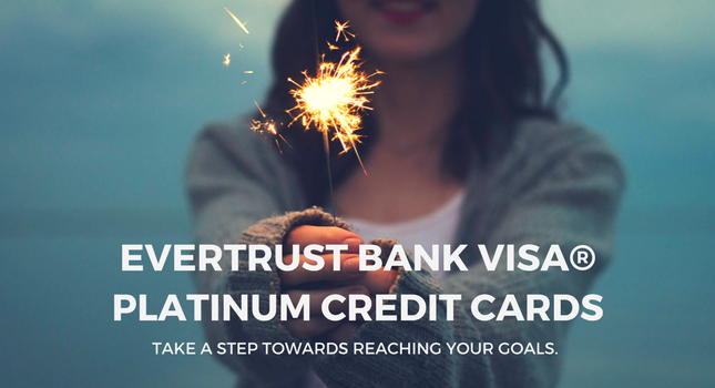 EverTrust Bank Visa Platinum Credit Cards Rotating Banner In Simplified Chinese